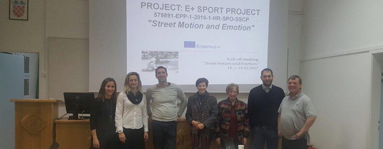 Održan Kick-off meeting Erasmus +Sport projekta