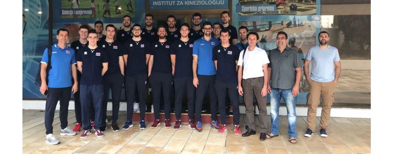 Hrvatska muška odbojkaška reprezentacija  na Institutu  za kineziologiju u Splitu