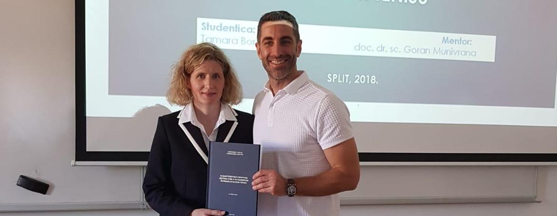 Na Kineziološkom fakultetu Sveučilišta u Splitu diplomirala proslavljena hrvatska stolnotenisačica Tamara Boroš